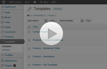 Watch a demo of the Content Editor Templates Plugin