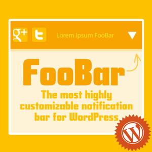 FooBar Notification Bar Plugin for WordPress