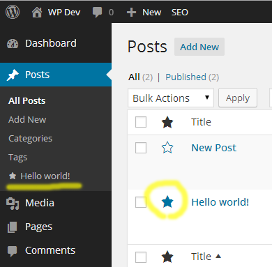 Admin Bookmarks WordPress Plugin