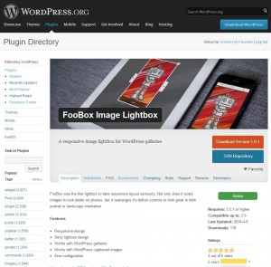"Now available on the <a href=""http://wordpress.org/plugins/foobox-image-lightbox/"" target=""_blank"">wp.org repo</a>"